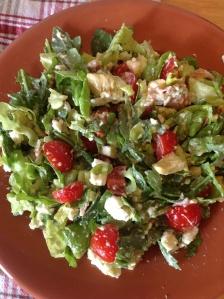 BLT {+ feta and avocado} Salad (gluten/refined sugarfree)