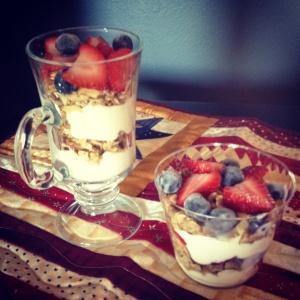 Fruit Parfait (gluten/refined sugarfree)